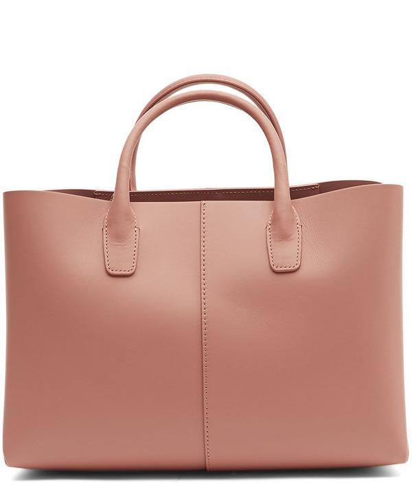 Mini Calf Leather Folded Tote Bag