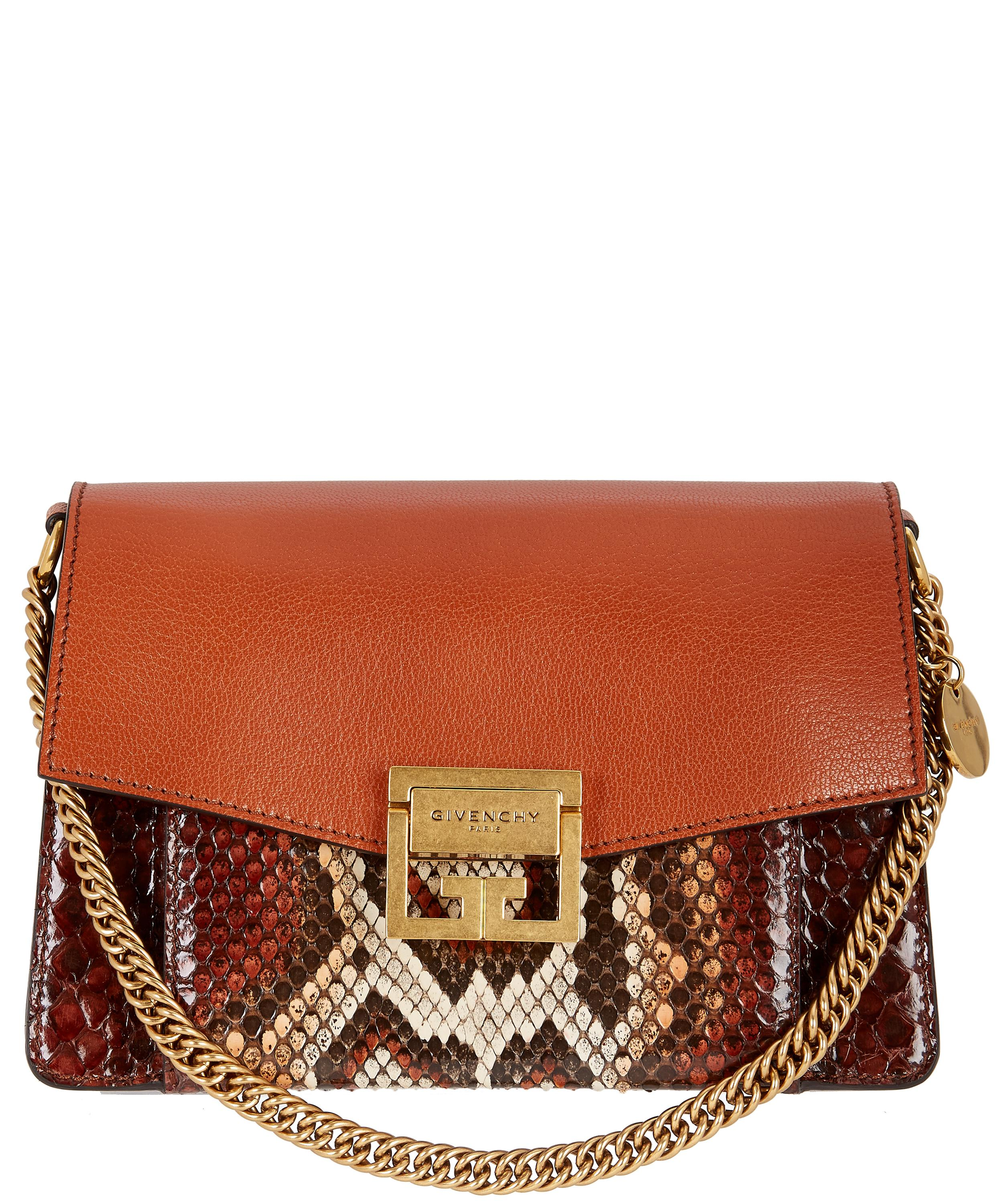 47112ad299d9 Small GV3 Python Leather Shoulder Bag