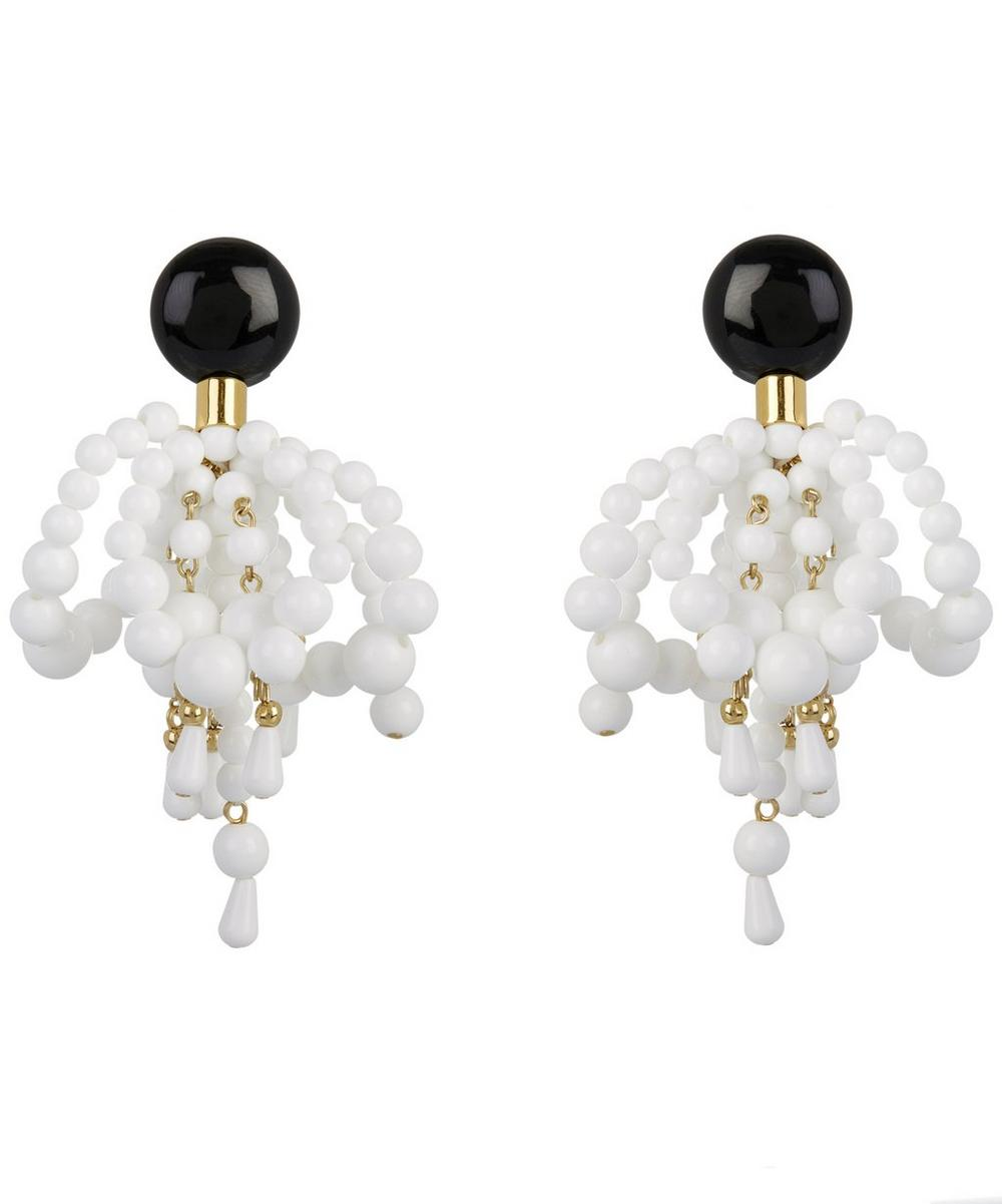 Bead Embellished Clip-On Earrings