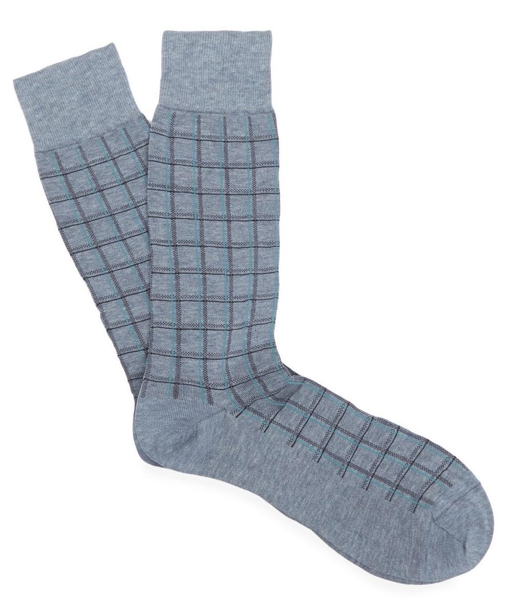 Saffron Summer Check Cotton Socks