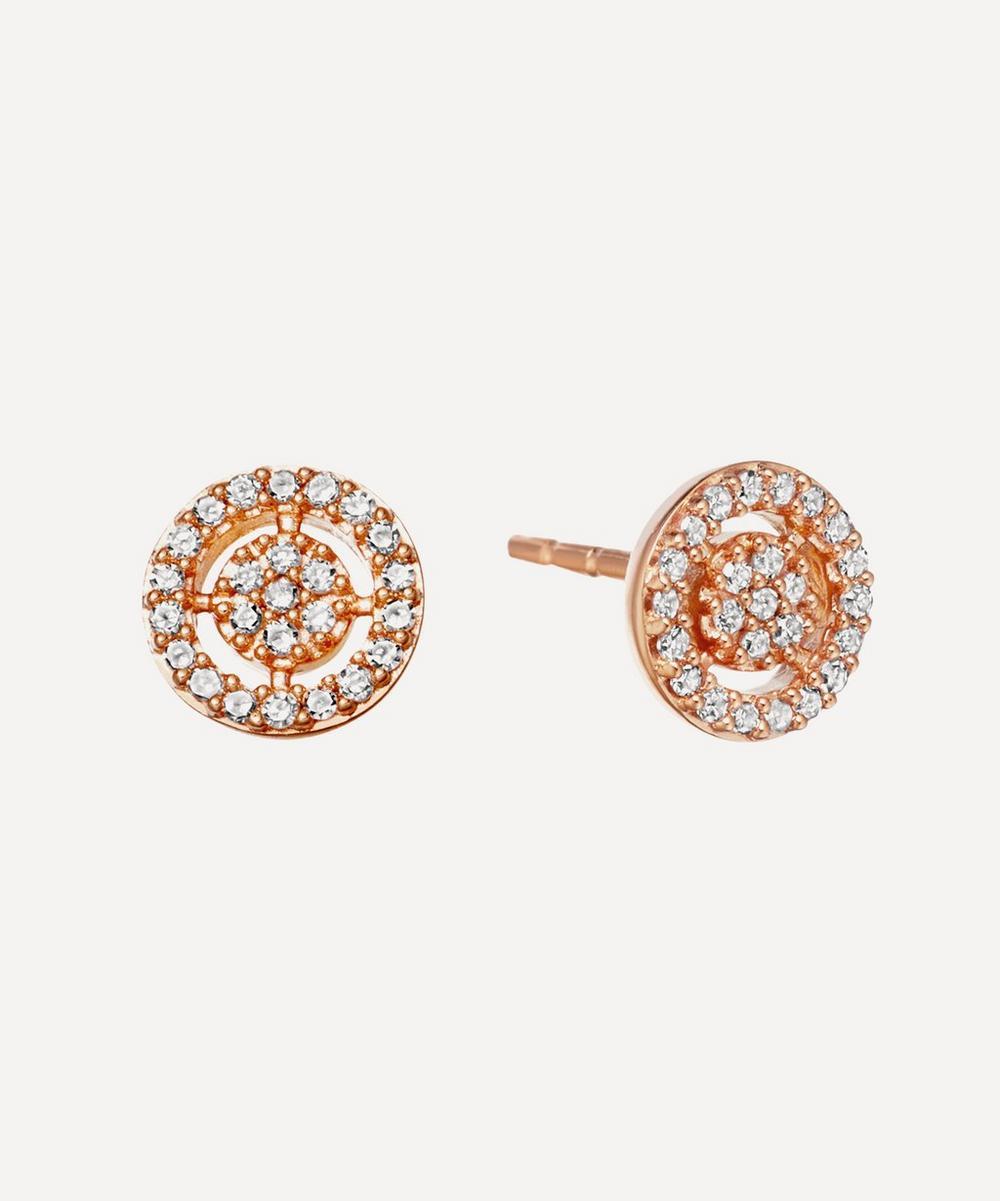 Rose Gold Mini Icon Aura Stud Earrings
