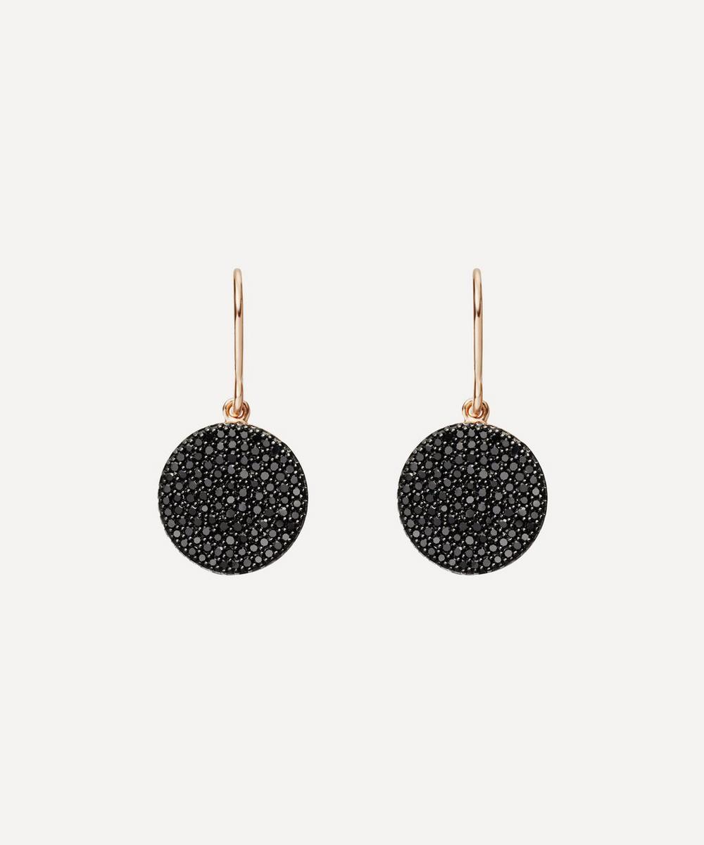 Rose Gold Icon Black Diamond Earrings
