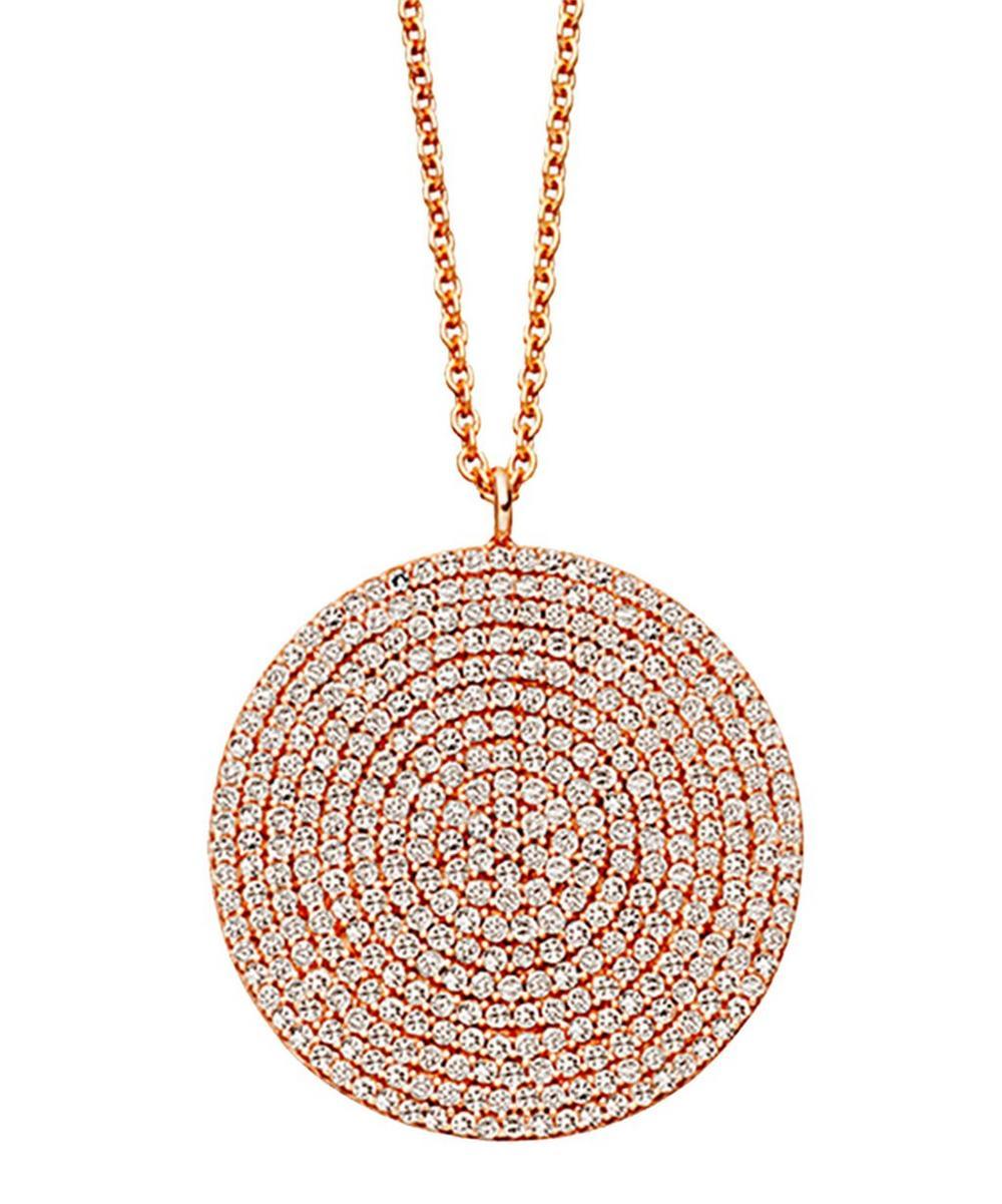 Rose Gold Large Icon Diamond Pendant Necklace