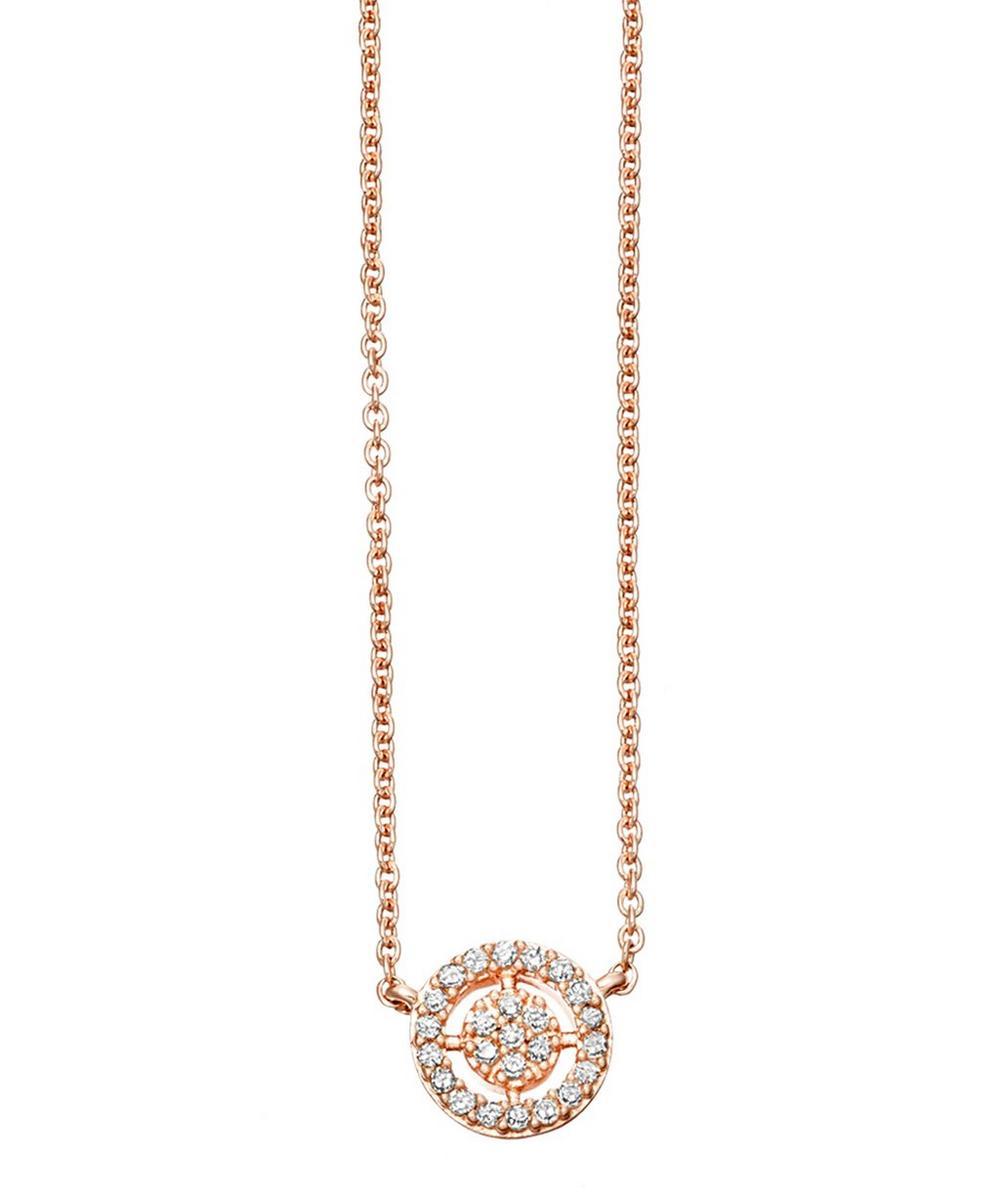 Rose Gold Mini Icon Aura Pendant Necklace
