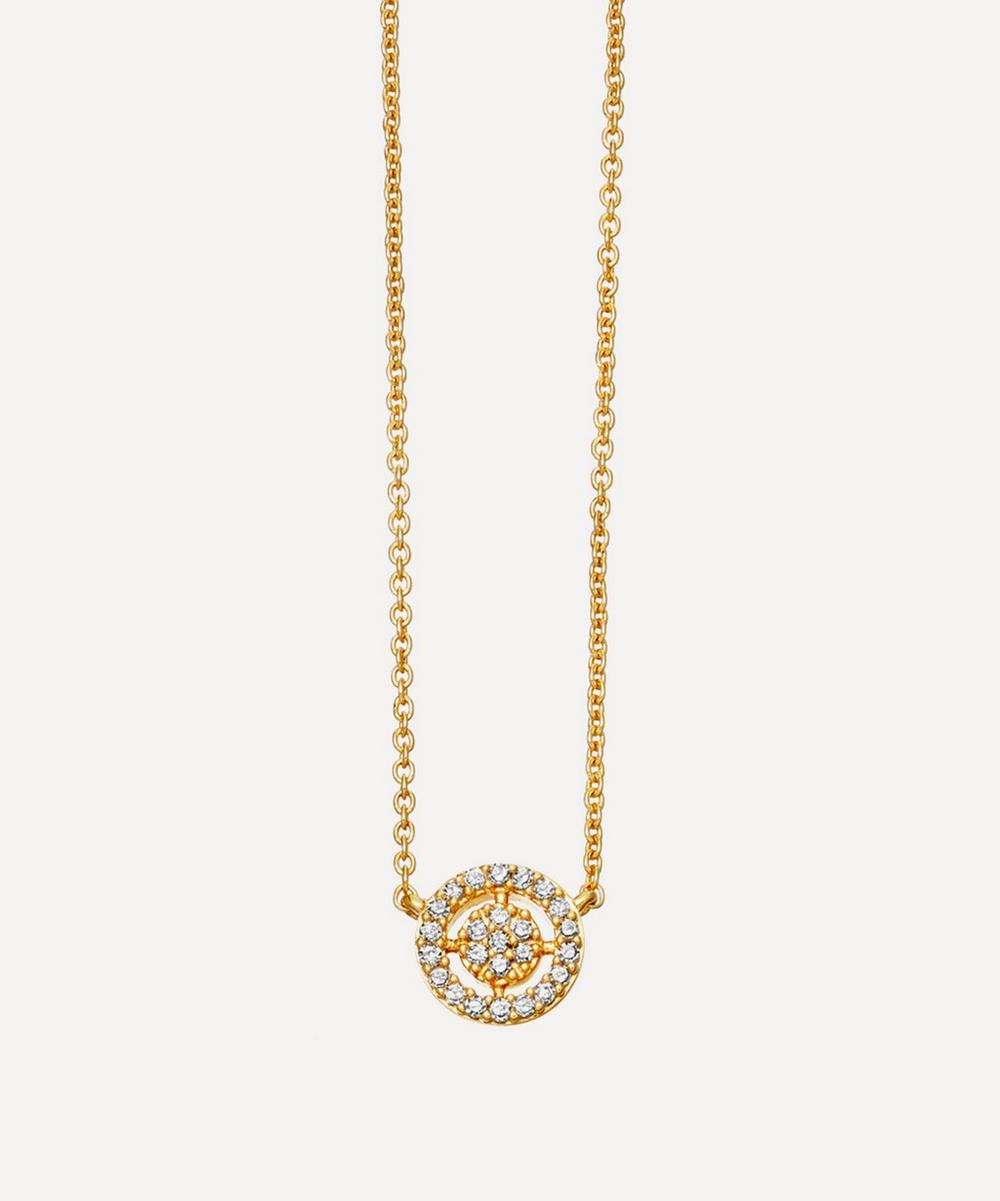 Gold Mini Icon Aura Pendant Necklace