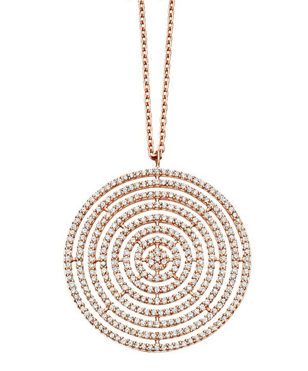 Womens designer necklaces pendants luxury liberty london rose gold large icon aura pendant necklace aloadofball Image collections