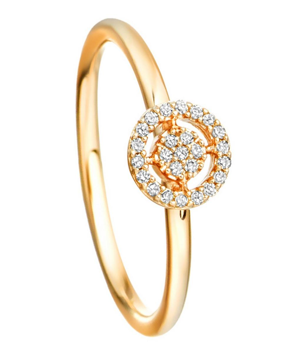 Gold Mini Icon Aura Diamond Ring