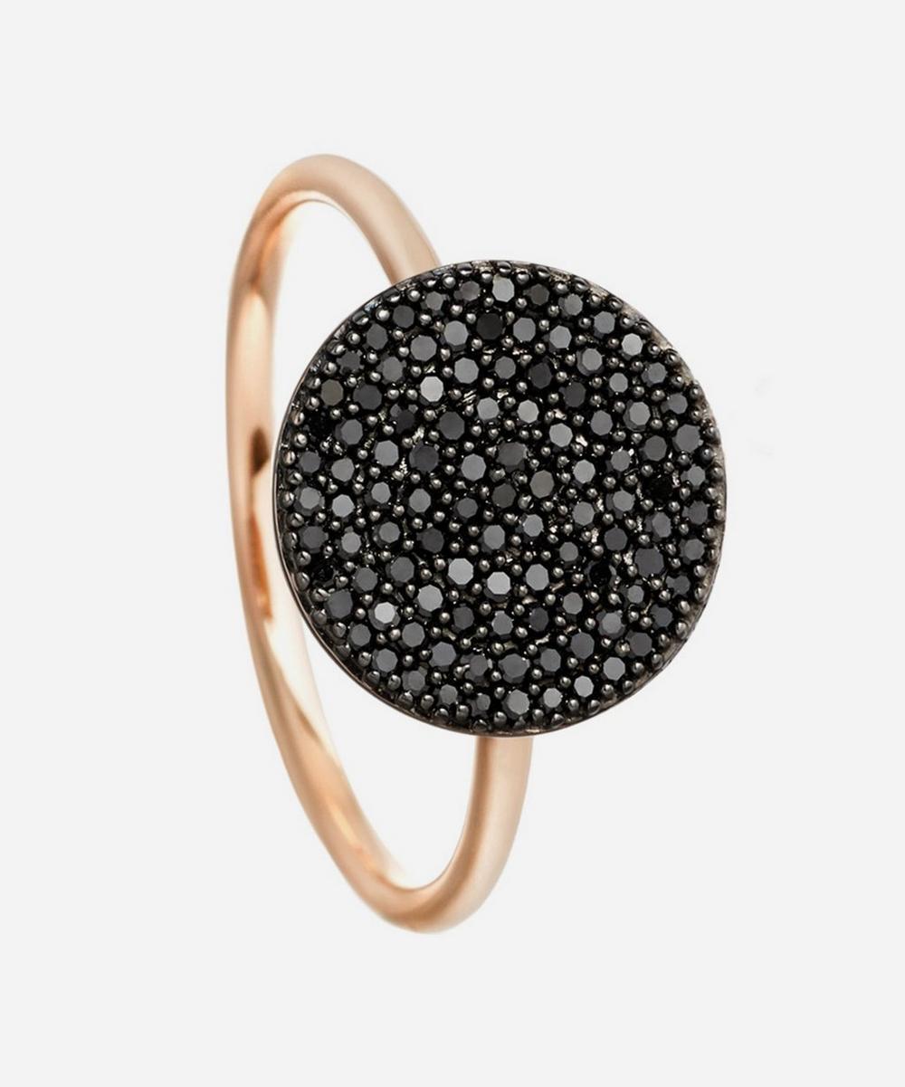 Rose Gold Icon Black Diamond Ring
