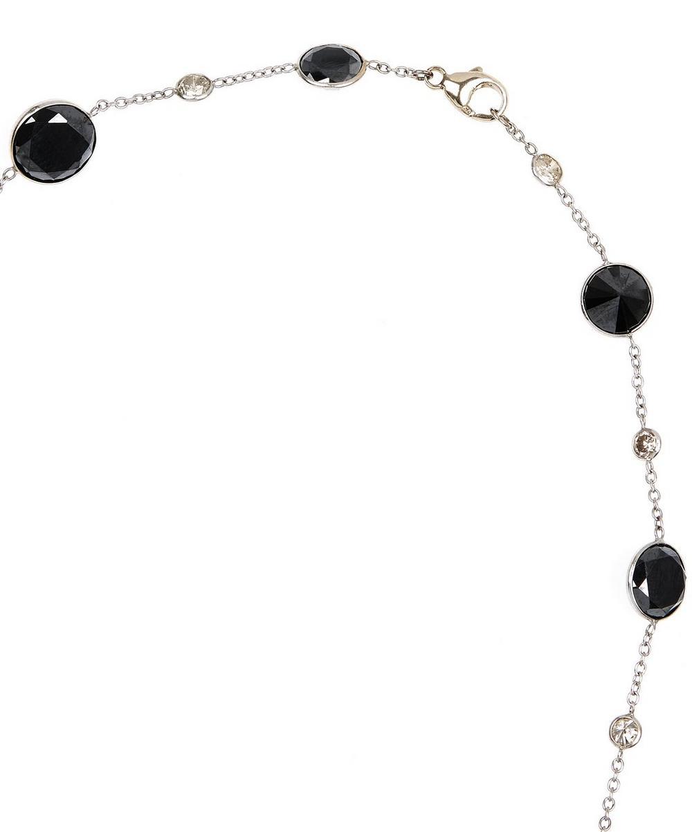 White Gold Optical Black and White Diamond Necklace