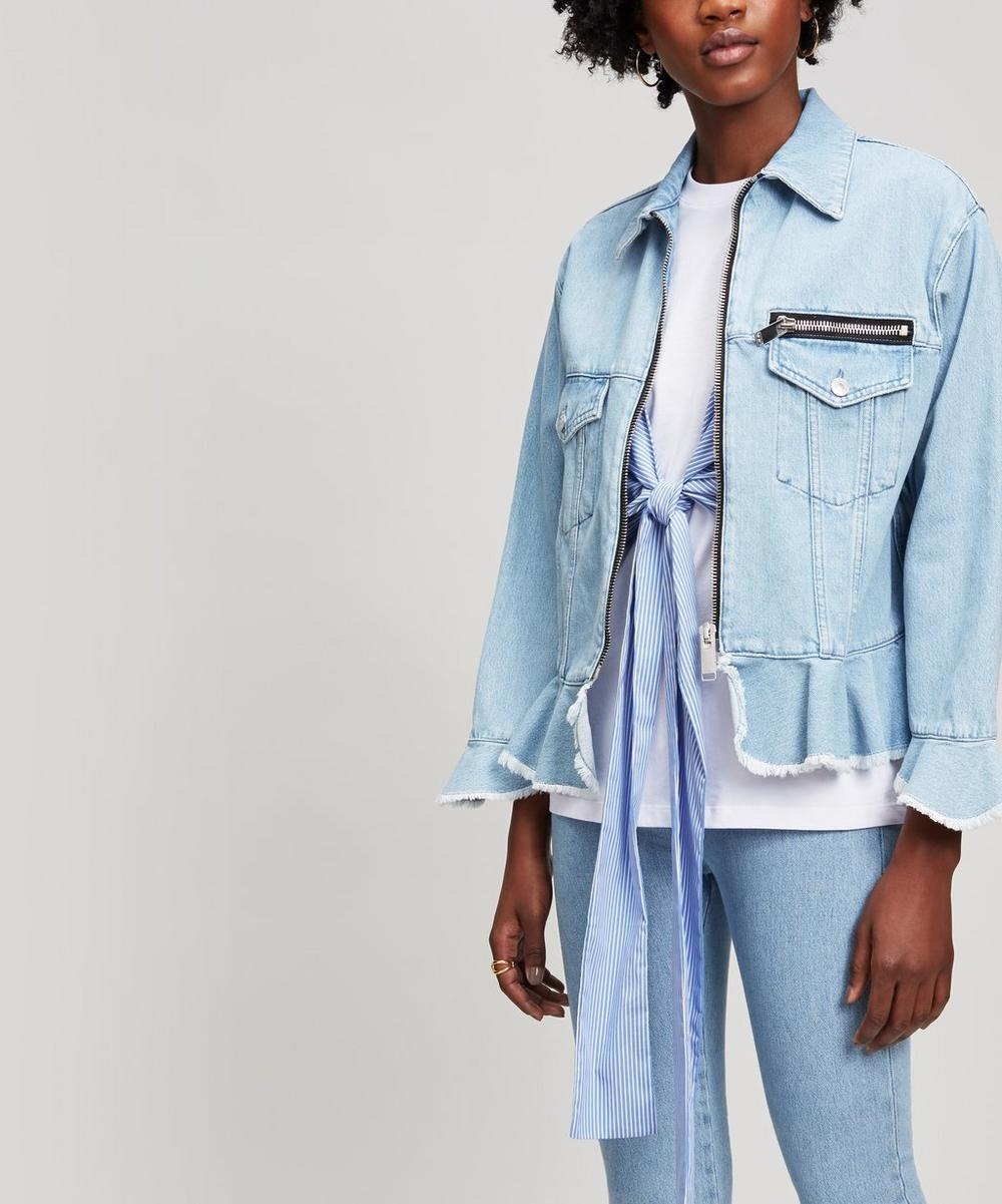MSGM ZIP DENIM JACKET