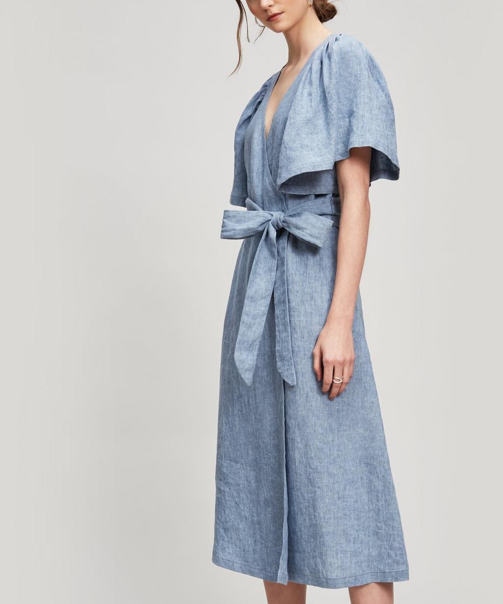 Masscob RIVER LINEN WRAP DRESS