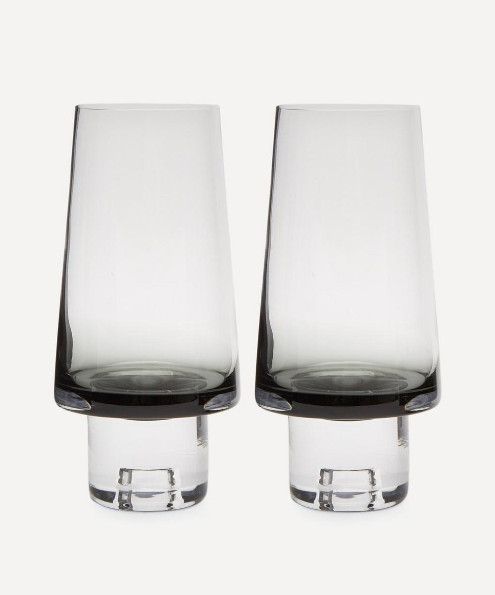 Black Tank High Ball Glasses Set