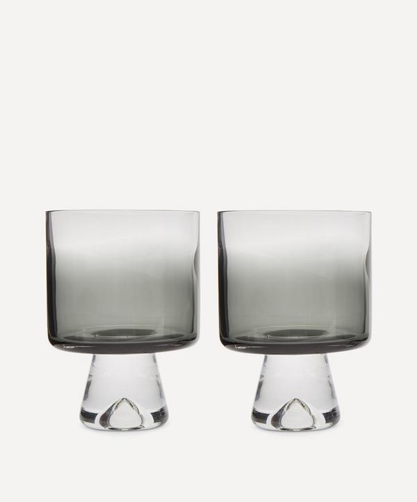 Black Tank Lowball Glasses Set