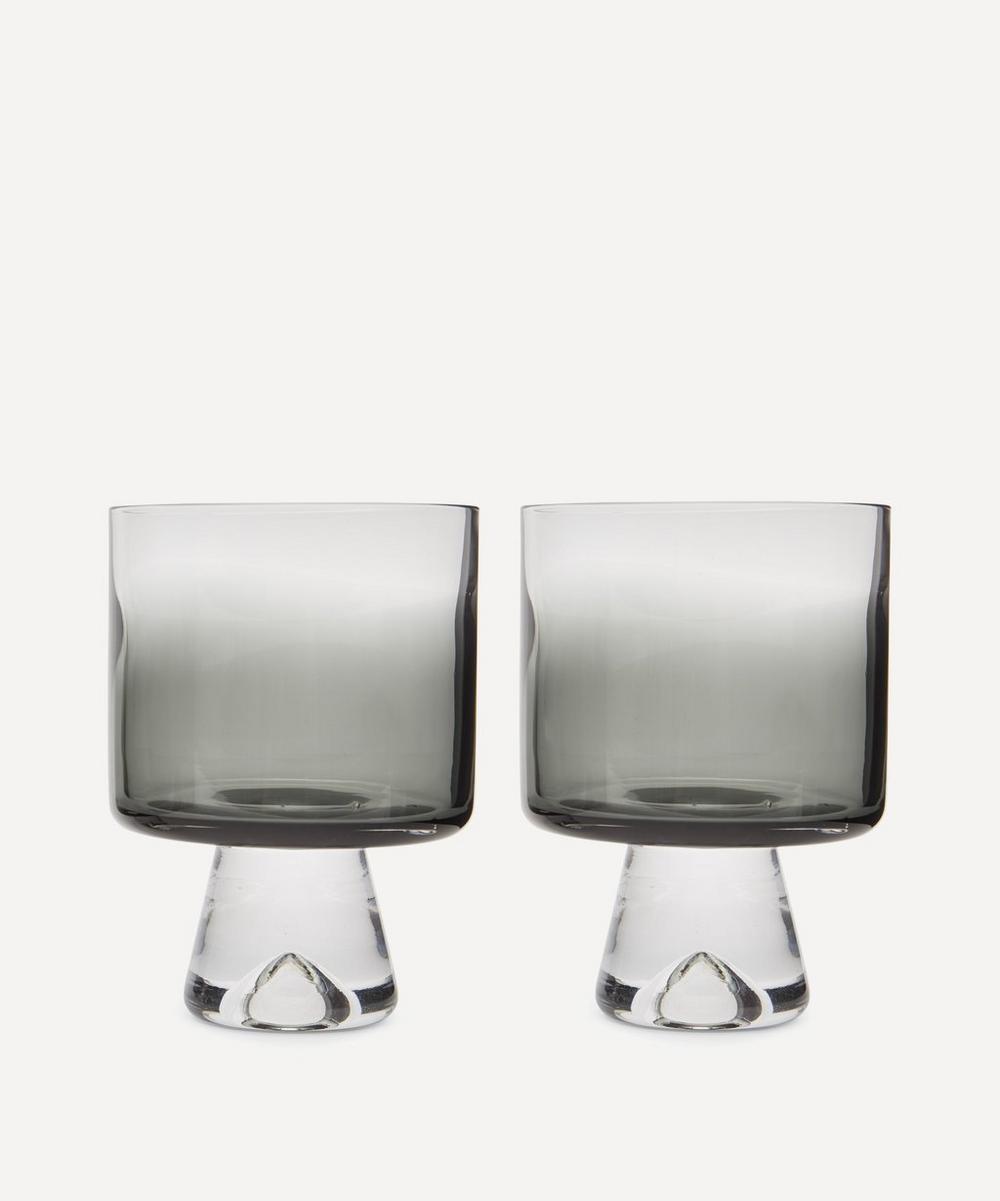 Black Tank Lowball Glasses Set