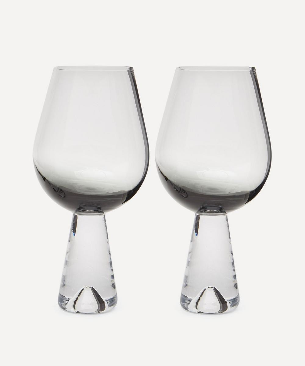Black Tank Wine Glasses Set
