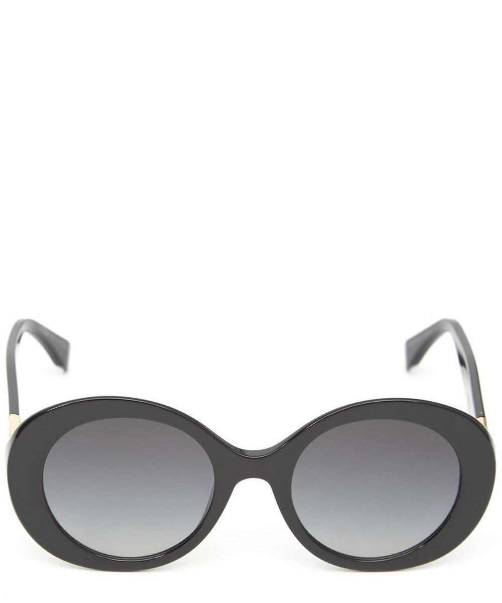 c22cbfc698 Fendi Peekaboo Wide Oval Sunglasses In Black