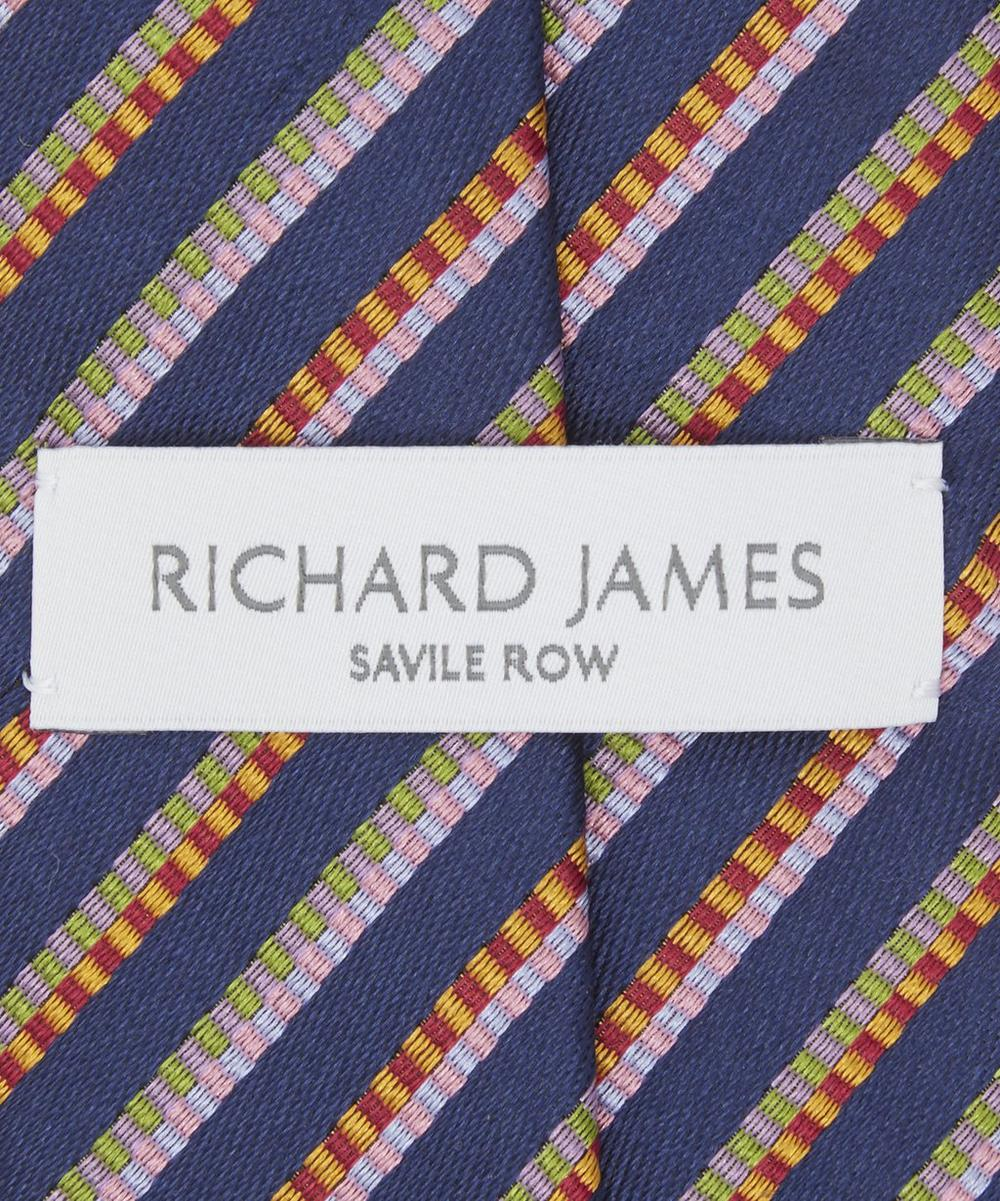 Ribbon Tie Bar : Narrow ribbon bars silk tie liberty london