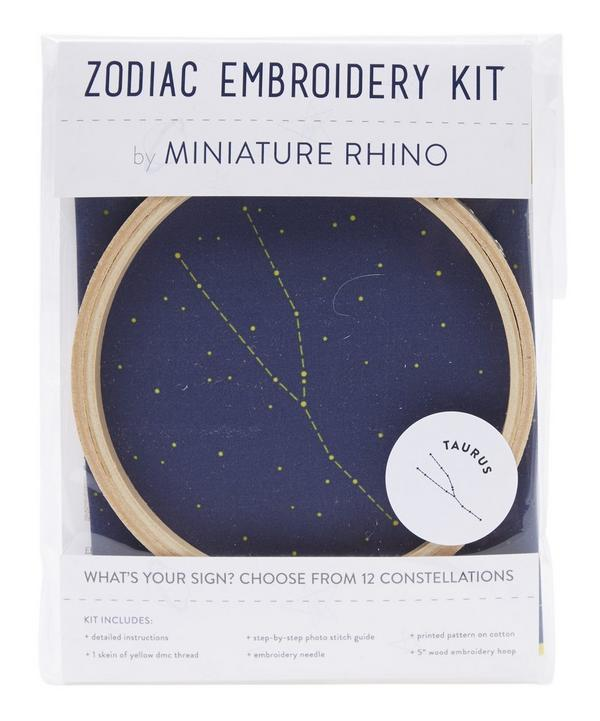 Taurus Zodiac Embroidery Kit