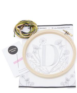 Letter D Embroidery Kit