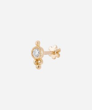 Diamond Four-Ball Trinity Threaded Stud Earring