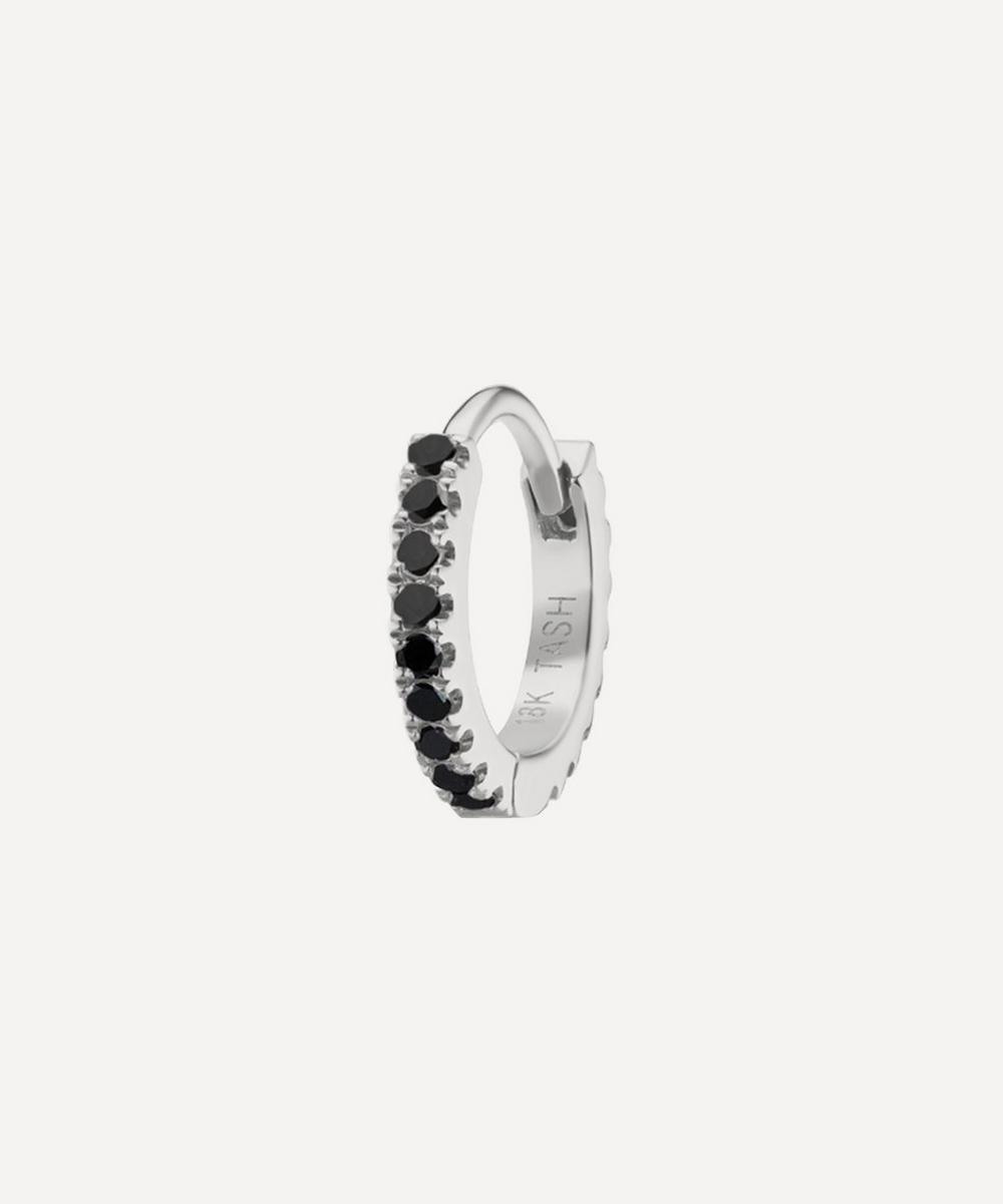 Maria Tash - 6.5mm Black Diamond Eternity Hoop Earring