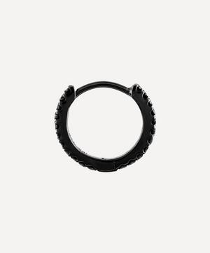 "1/4"" Black Diamond Eternity Hoop Earring"
