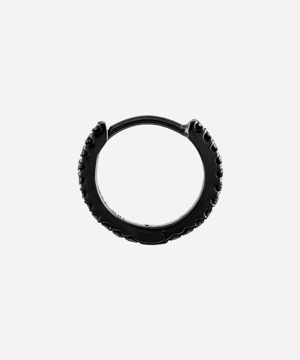 """5/16"""" Black Diamond Eternity Hoop Earring"""