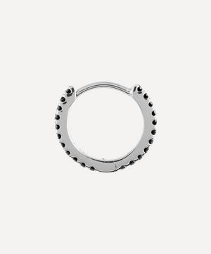 "5/16"" Black Diamond Eternity Hoop Earring"