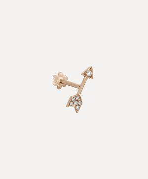 10mm Diamond Arrow Threaded Stud Earring