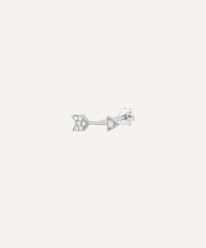 9.6mm Diamond Arrow Threaded Stud Earring