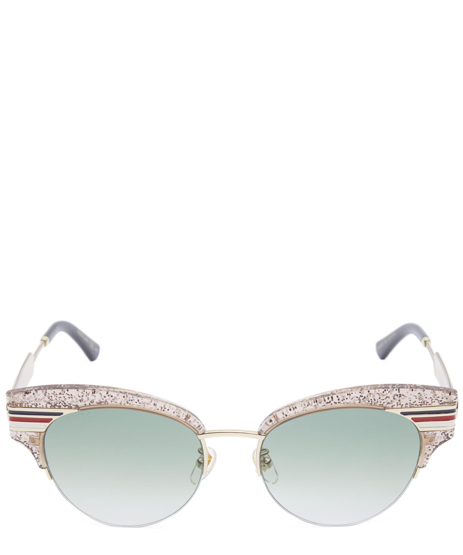 c7468a9f87 Cat-Eye Glitter Acetate Sunglasses