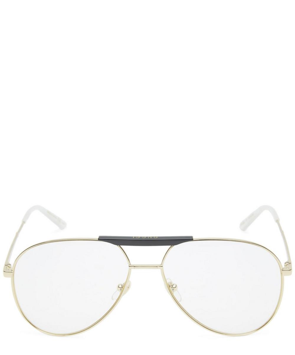 GUCCI GOLD TONE AVIATOR GLASSES
