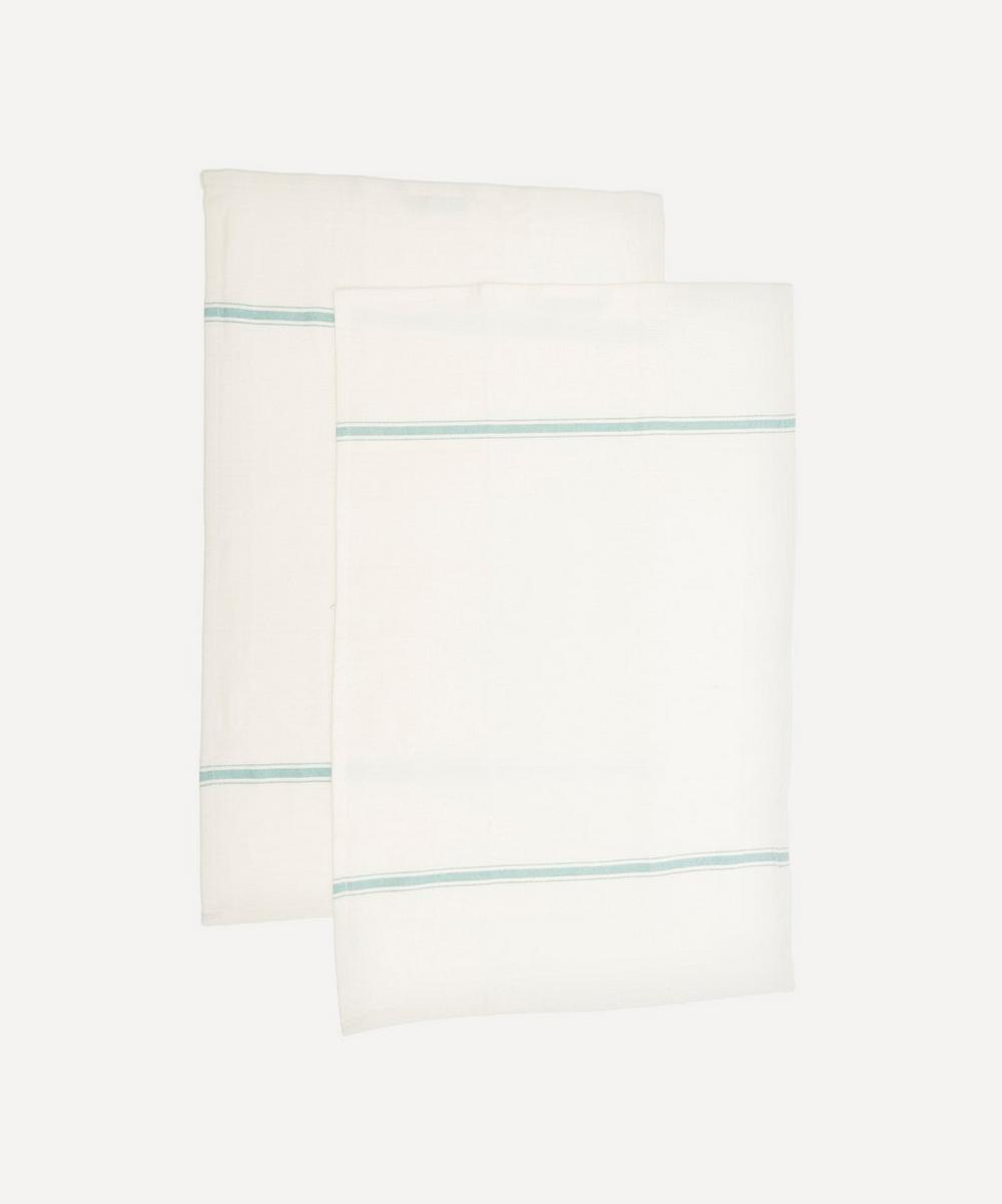Hay Striped Tea Towels Set Of Two