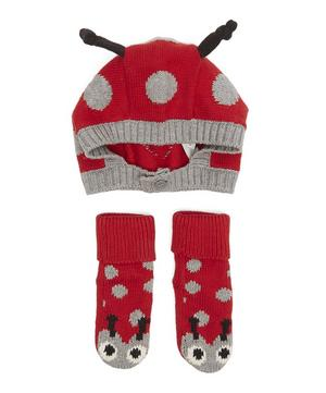 Flopsy + Chips Ladybird Hat and Booties Set