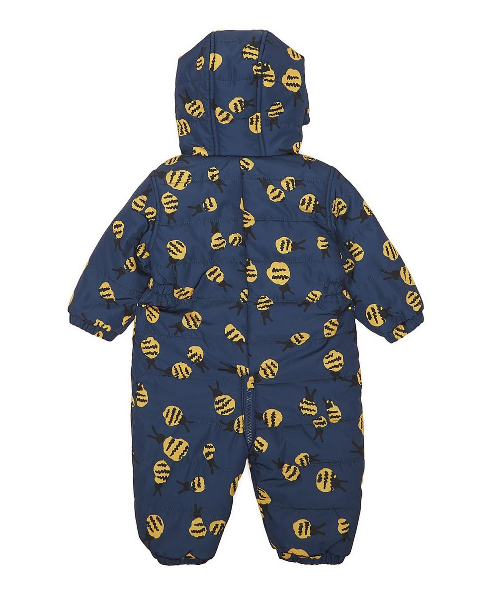 Bee Print Puddle Overall 3 Months-3 Years