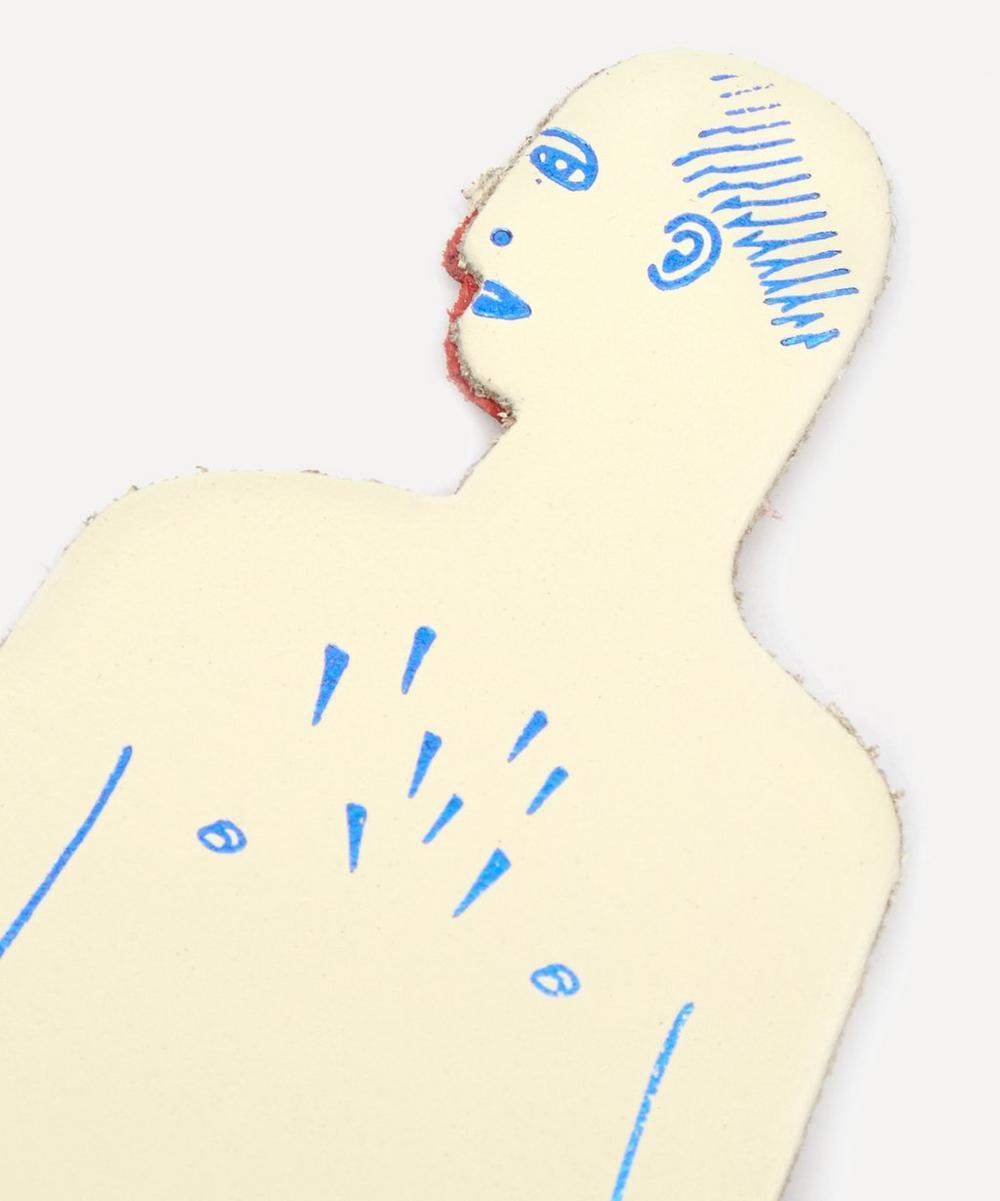 Nudist Tattooed Man Bookmark
