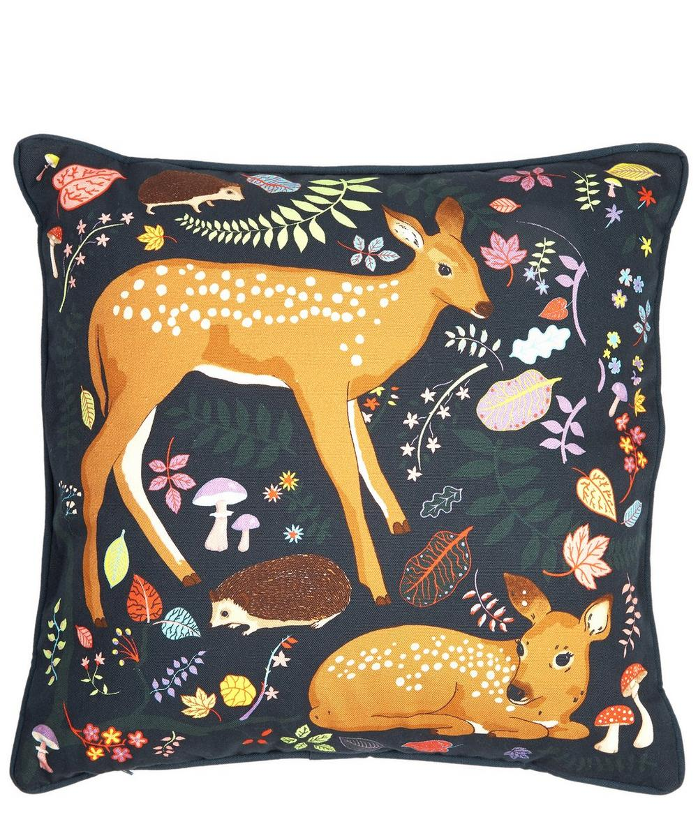 Small Forest Fauns Cushion