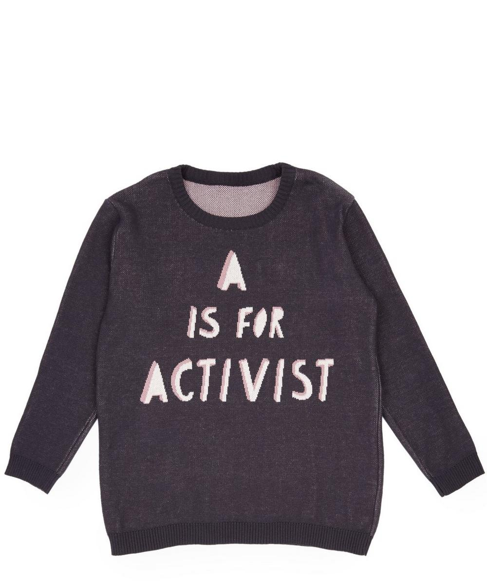 A Is For Activist Knitted Jumper 2-8 Years