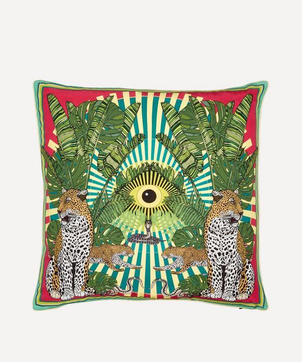 Silken Favours - Eye of the Leopard Cushion