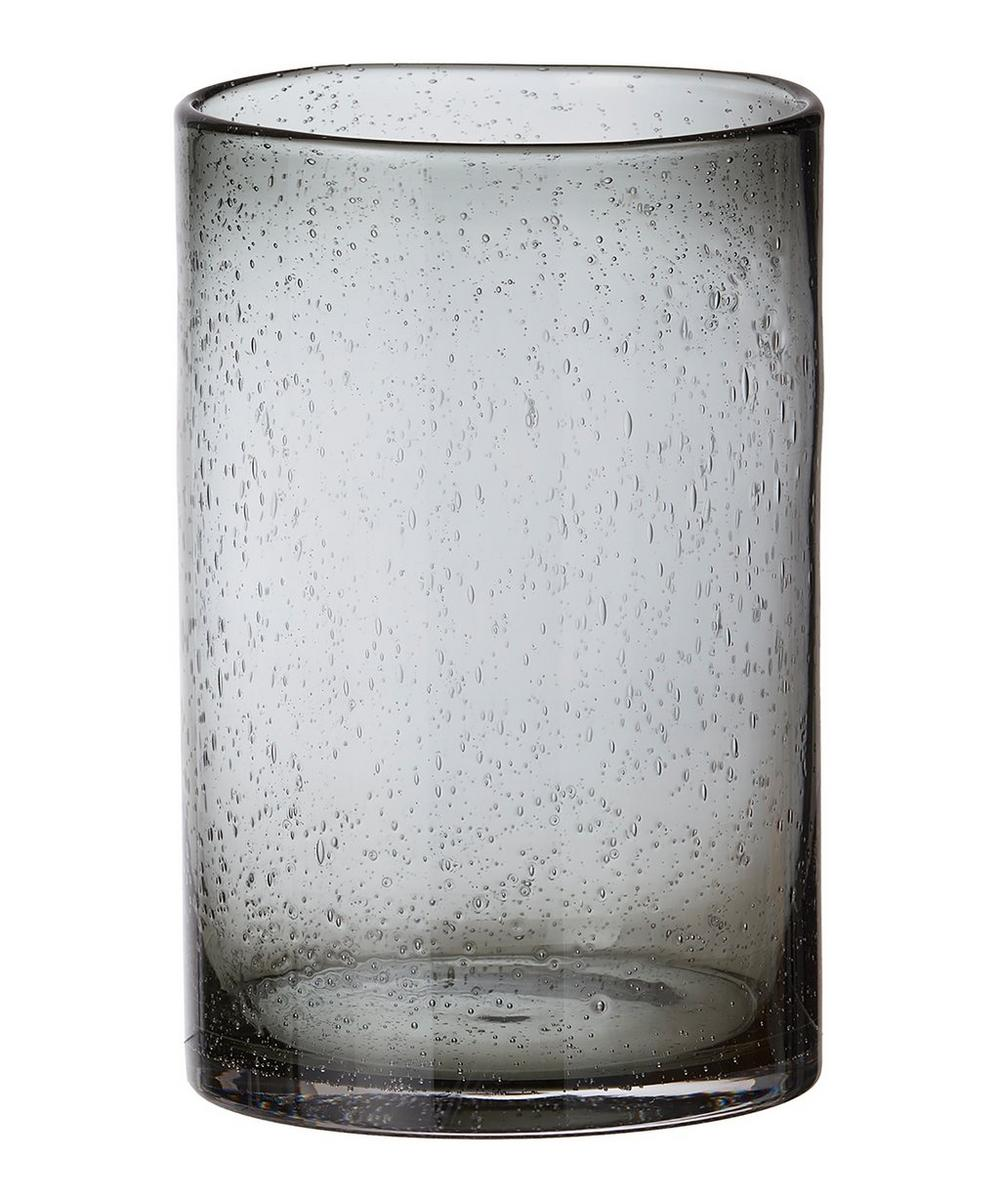 Bubble Cylinder Glass Vase 28cm