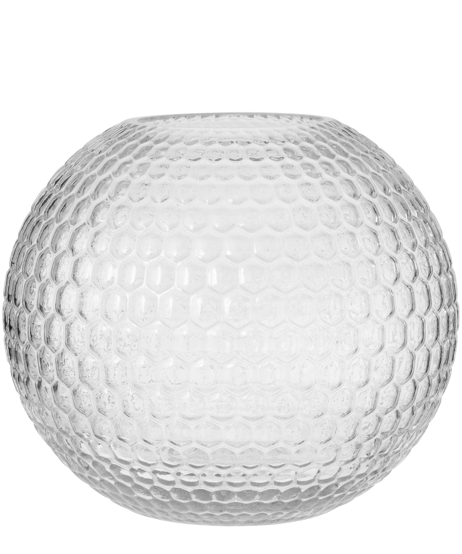 Diamond round glass vase 22cm