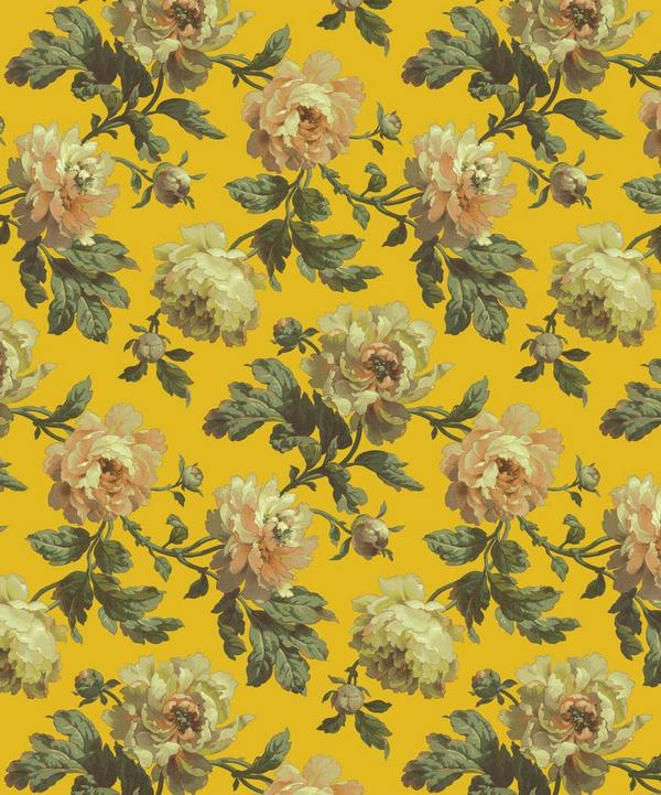 Ochre Peoneden Wallpaper