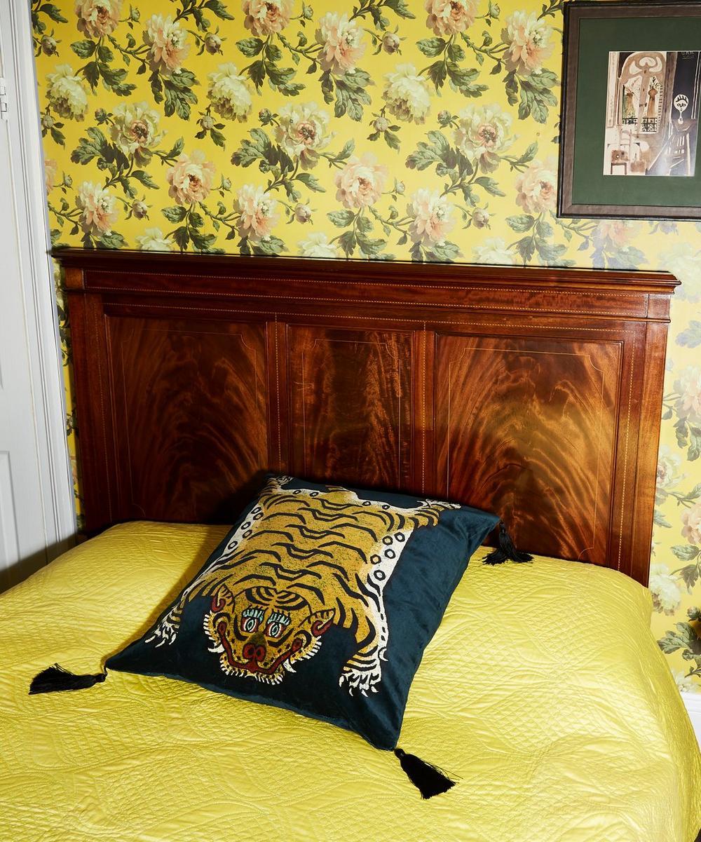 Saber Large Velvet Midnight Cushion