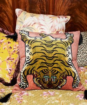 Saber Large Velvet Cushion