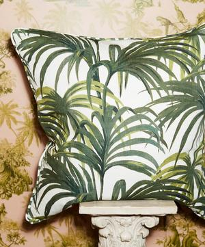 Palmeral Large Linen Cushion