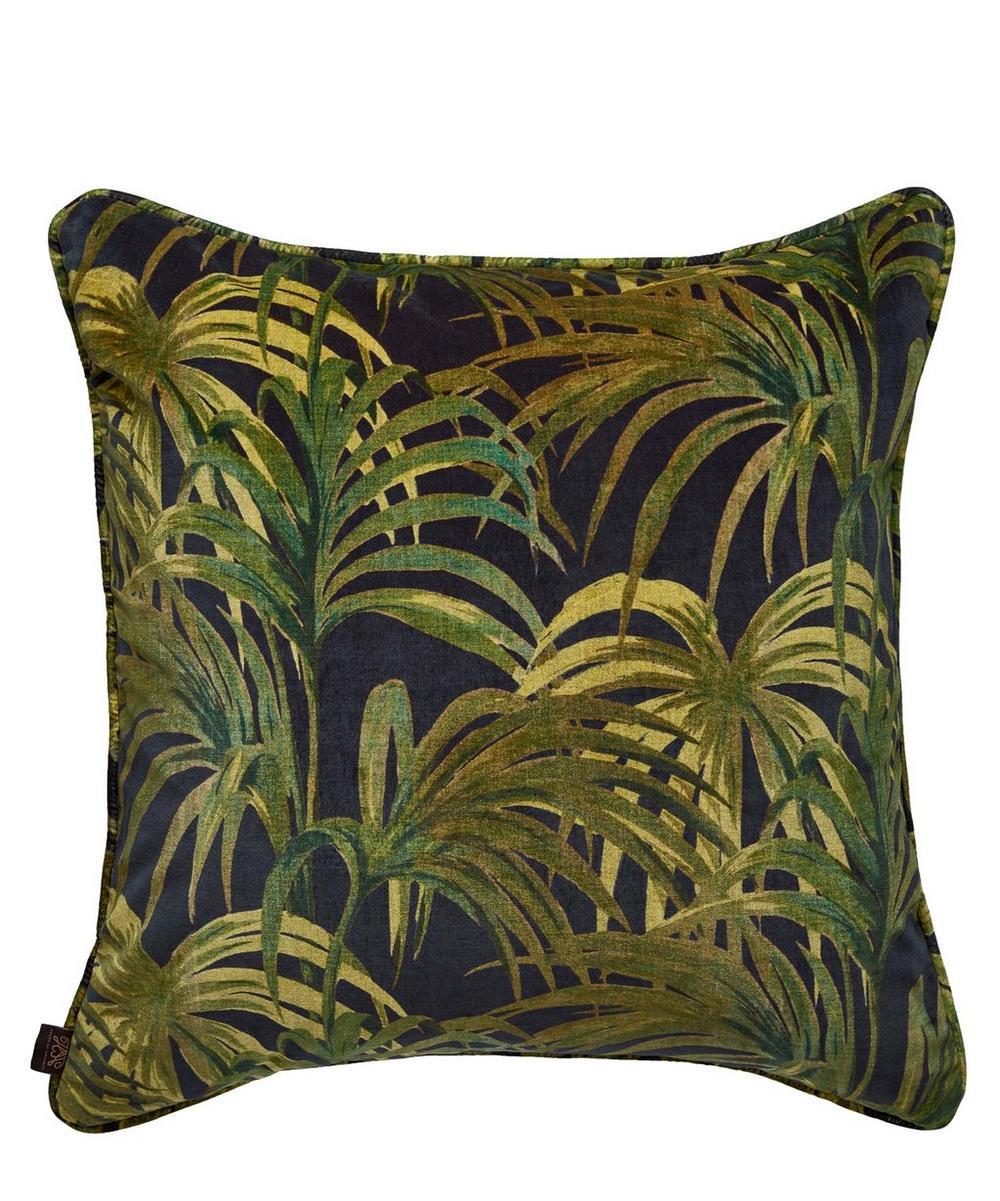 Palmeral Large Velvet Cushion