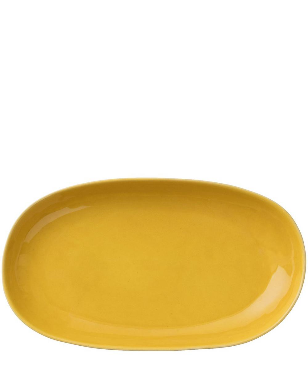 Crackle Glazed Medium Oval Platter