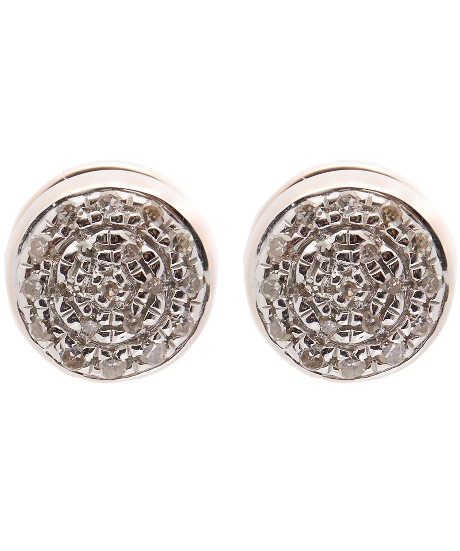 39490719e Rose Gold-Plated Fiji Button Diamond Stud Earrings | Liberty London