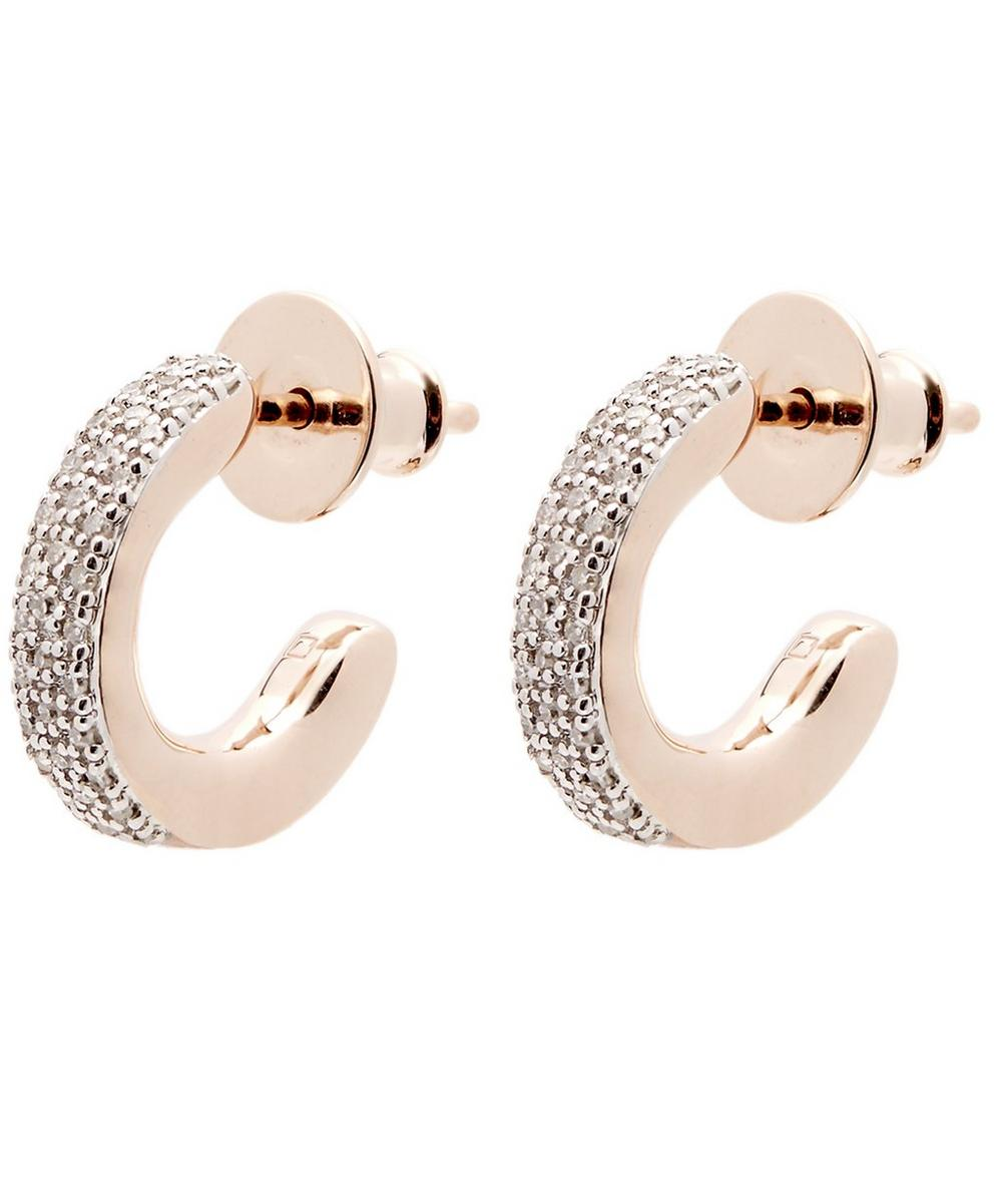 Rose Gold-Plated Fiji Mini Diamond Hoop Earrings