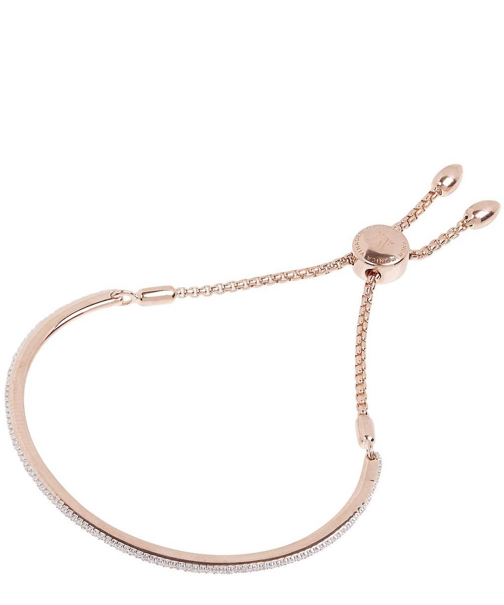 Rose Gold-Plated Petite Fiji Skinny Diamond Bar Bracelet